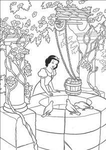 Coloriage Blanche-Neige