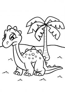 Bébé dinosaure cartoon